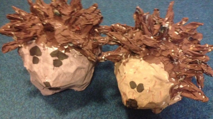 Pupils made these wonderful papier mache hedgehogs.